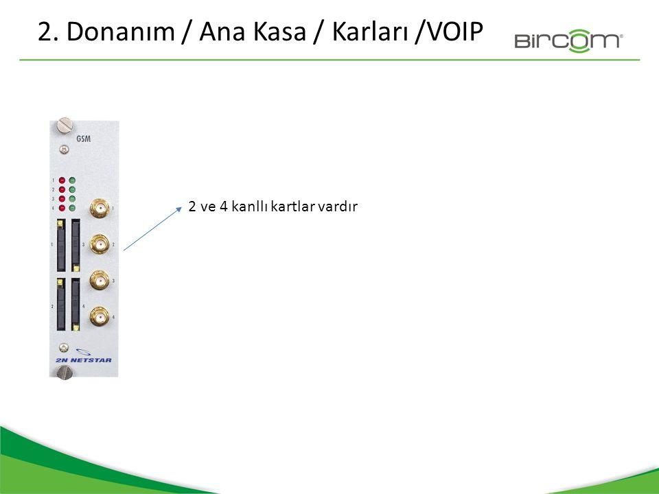 2. Donanım / Ana Kasa / Karları /VOIP