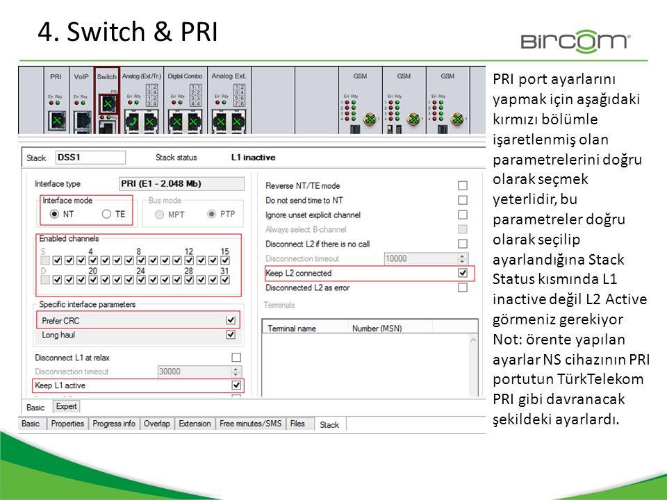 4. Switch & PRI