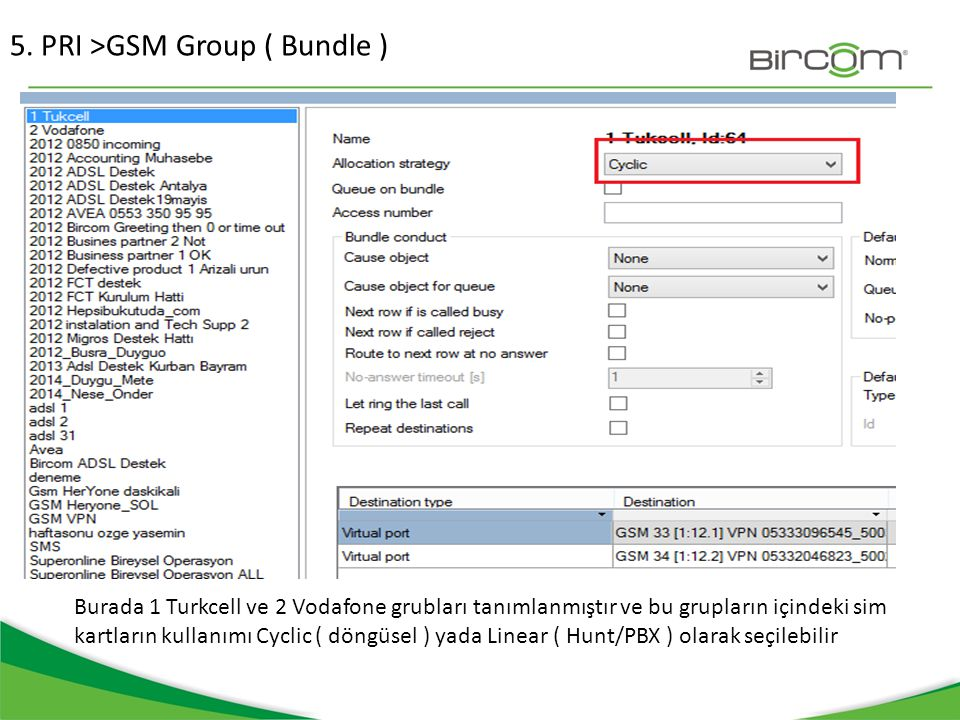 5. PRI >GSM Group ( Bundle )