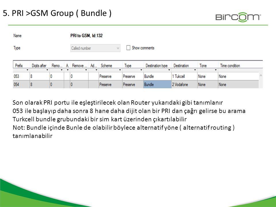 5. PRI >GSM Group ( Bundle )
