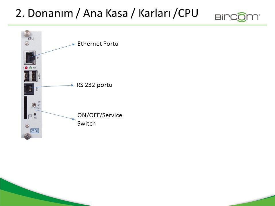 2. Donanım / Ana Kasa / Karları /CPU