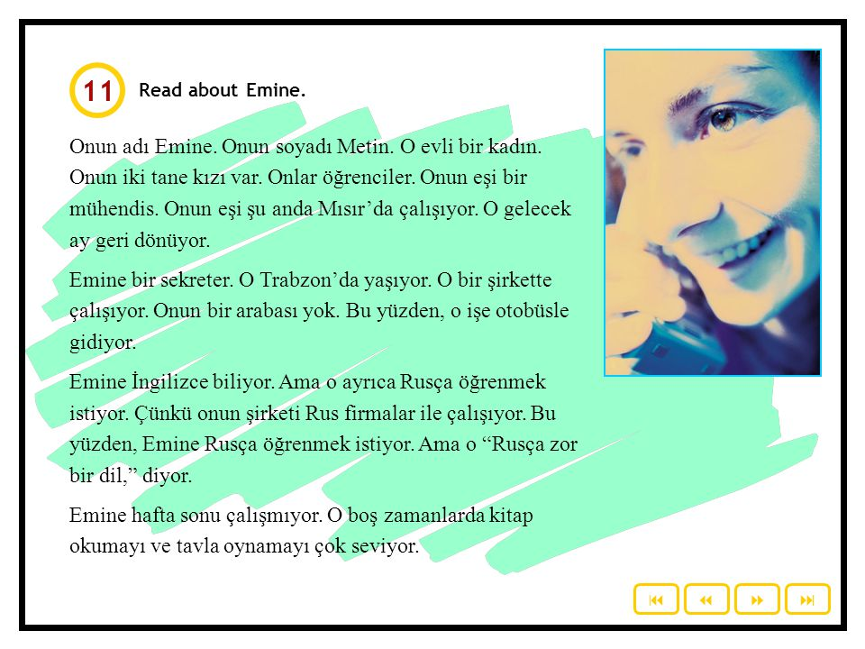 11 Read about Emine.