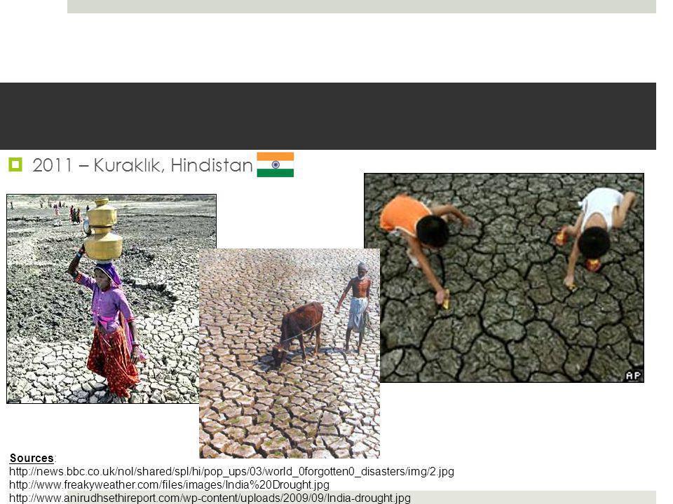 2011 – Kuraklık, Hindistan Sources: