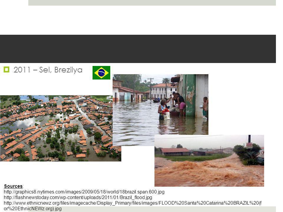 2011 – Sel, Brezilya Sources: