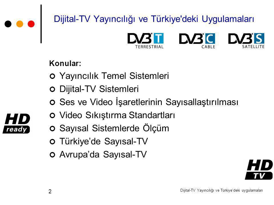 Dijital-TV Yayıncılığı ve Türkiye deki Uygulamaları