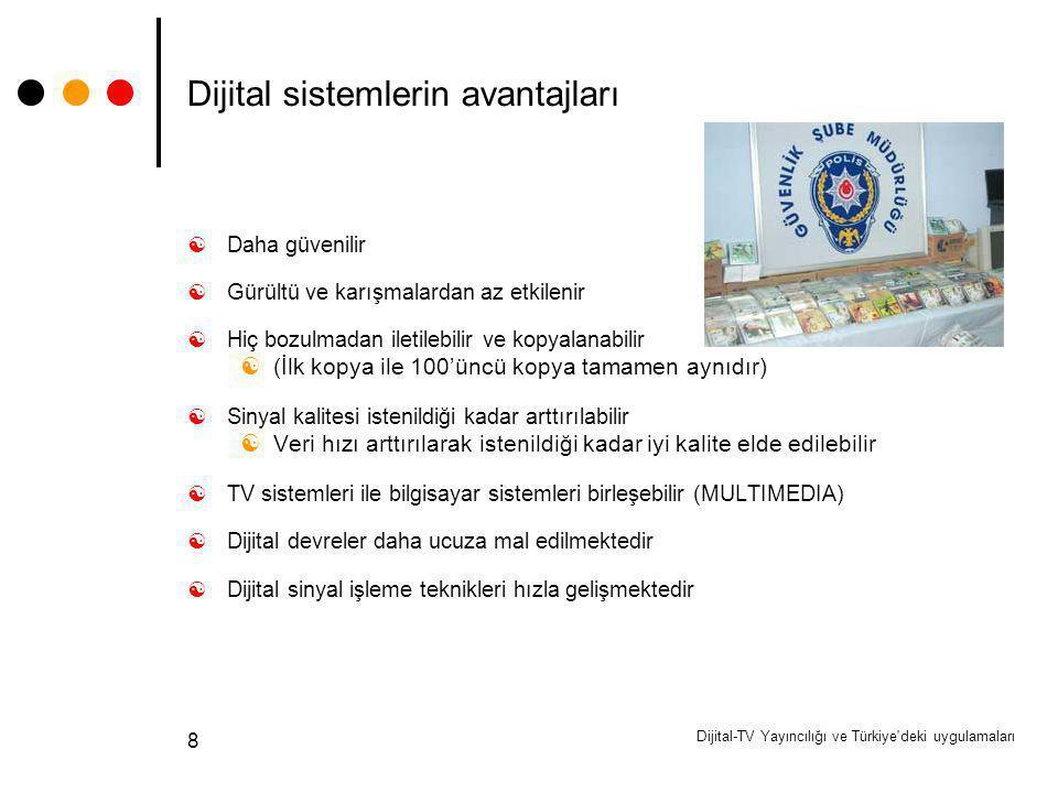 Dijital sistemlerin avantajları