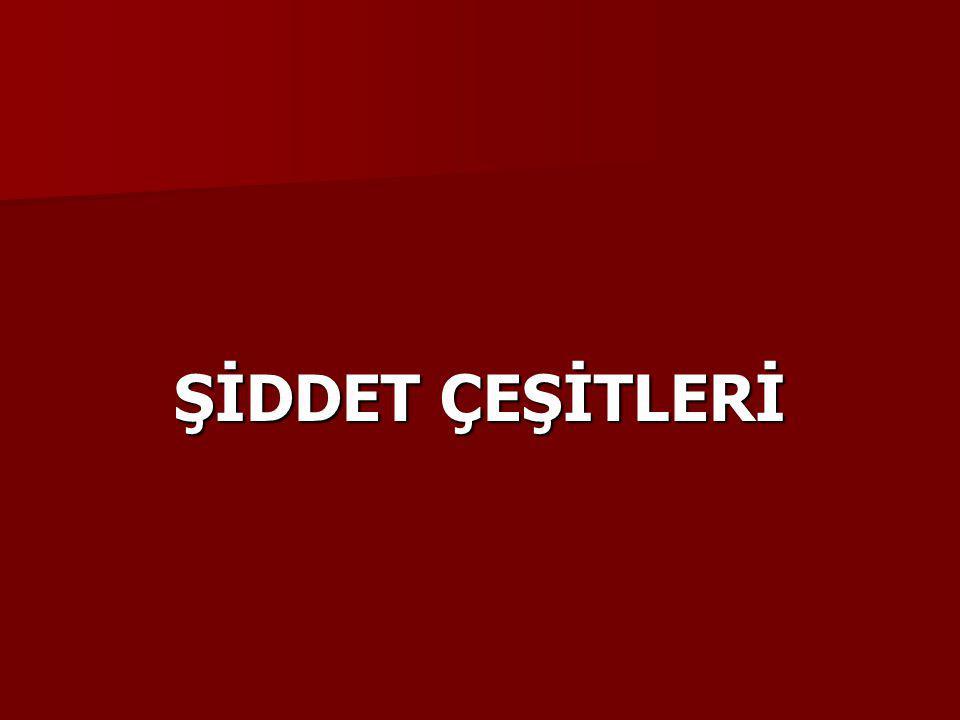 ŞİDDET ÇEŞİTLERİ