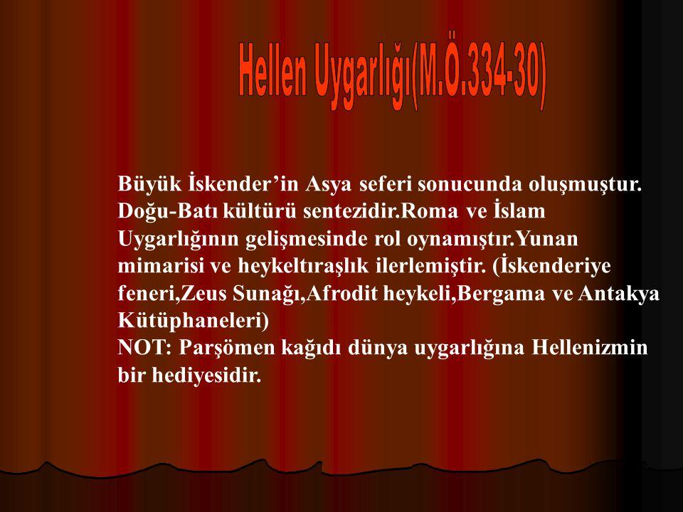 Hellen Uygarlığı(M.Ö.334-30)