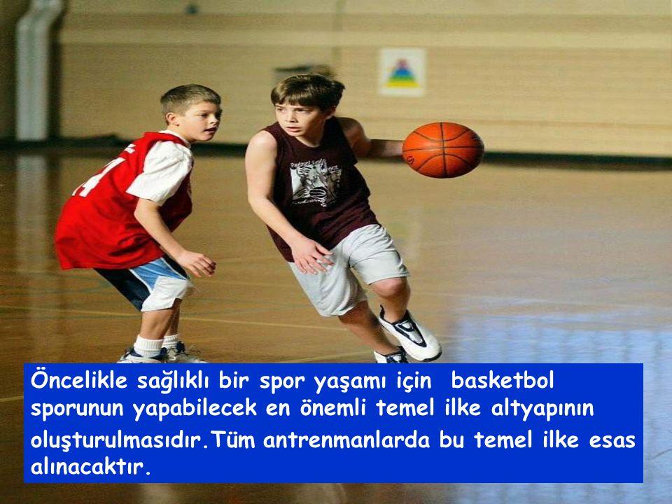 Öncelikle sağlıklı bir spor yaşamı için basketbol sporunun yapabilecek en önemli temel ilke altyapının