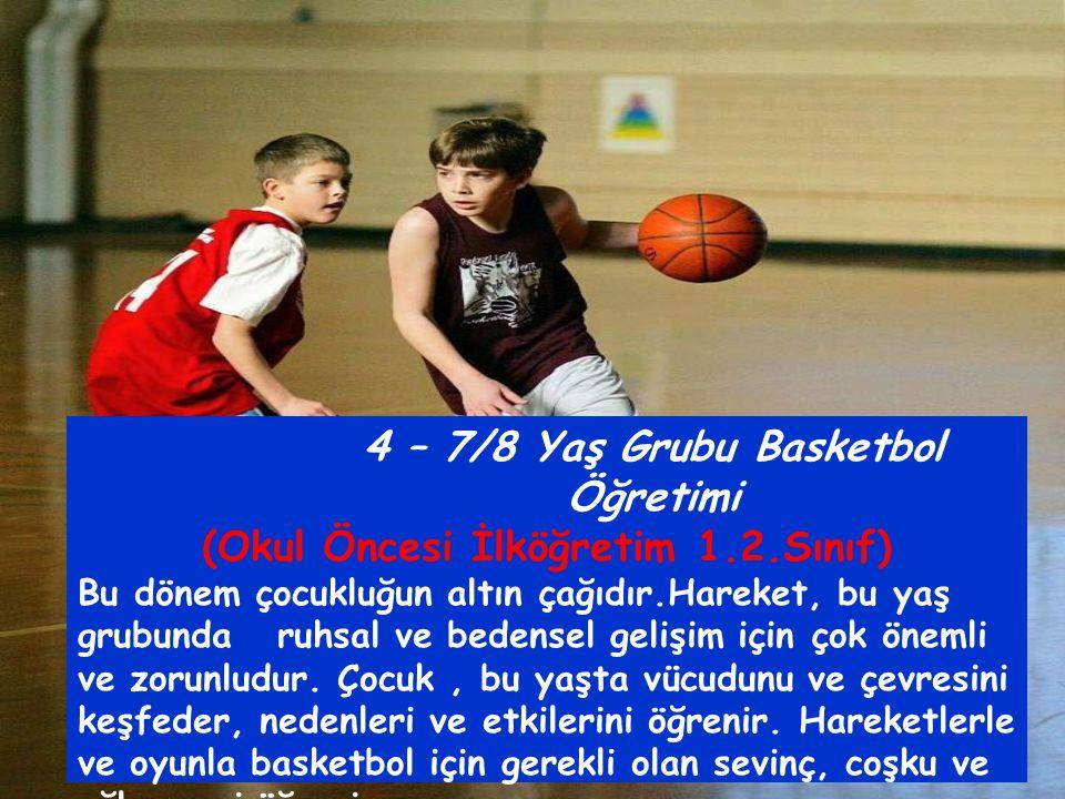 4 – 7/8 Yaş Grubu Basketbol Öğretimi