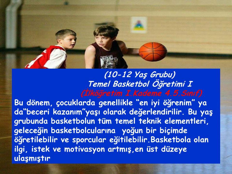 Temel Basketbol Öğretimi I (İlköğretim I.Kademe 4.5.Sınıf)