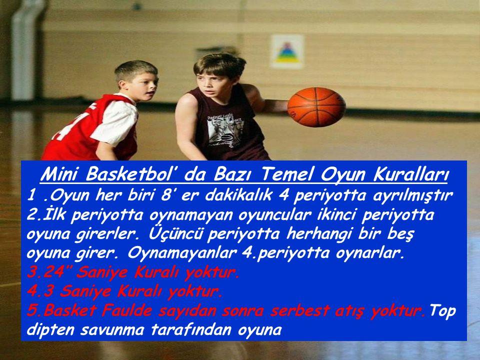 Mini Basketbol' da Bazı Temel Oyun Kuralları
