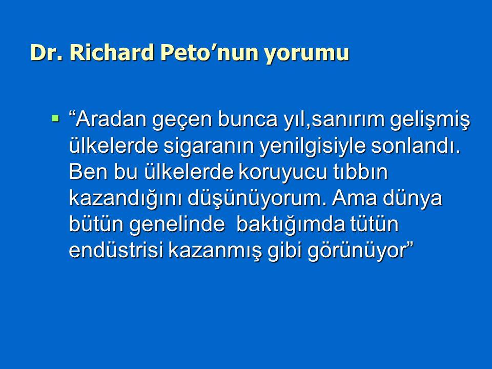 Dr. Richard Peto'nun yorumu