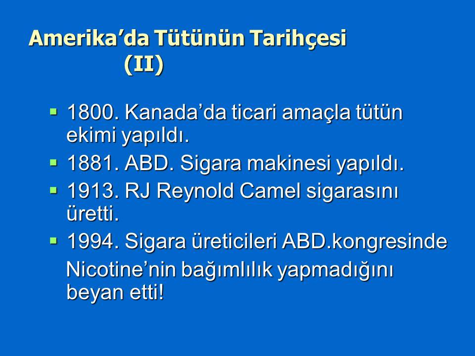 Amerika'da Tütünün Tarihçesi (II)