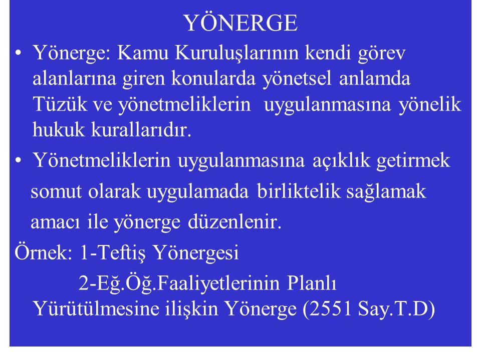 YÖNERGE