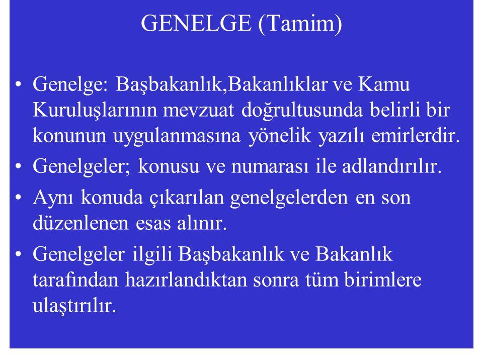 GENELGE (Tamim)