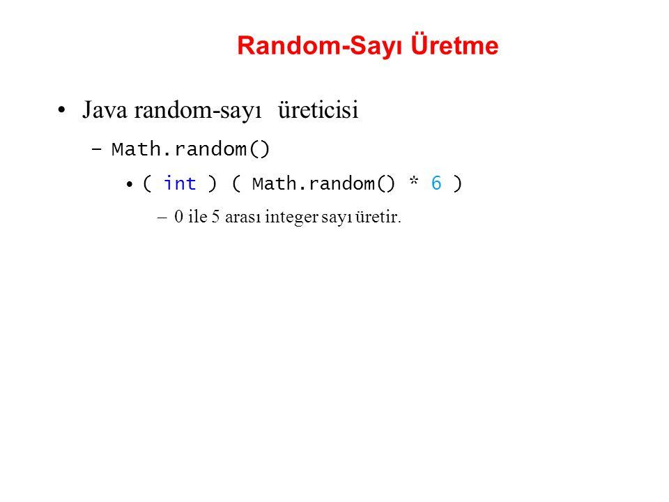 Java random-sayı üreticisi