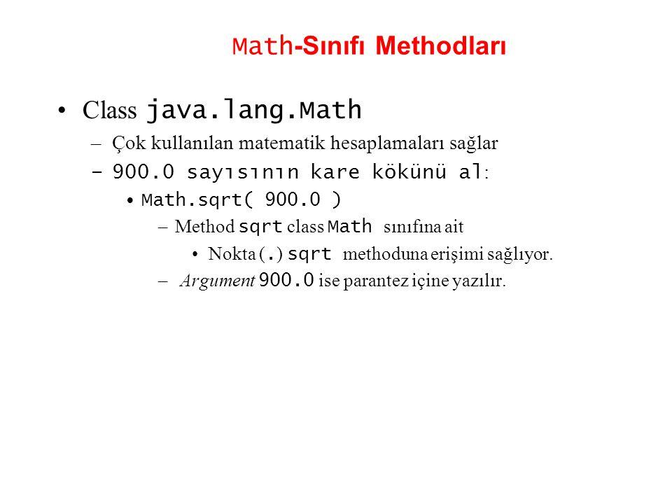 Math-Sınıfı Methodları
