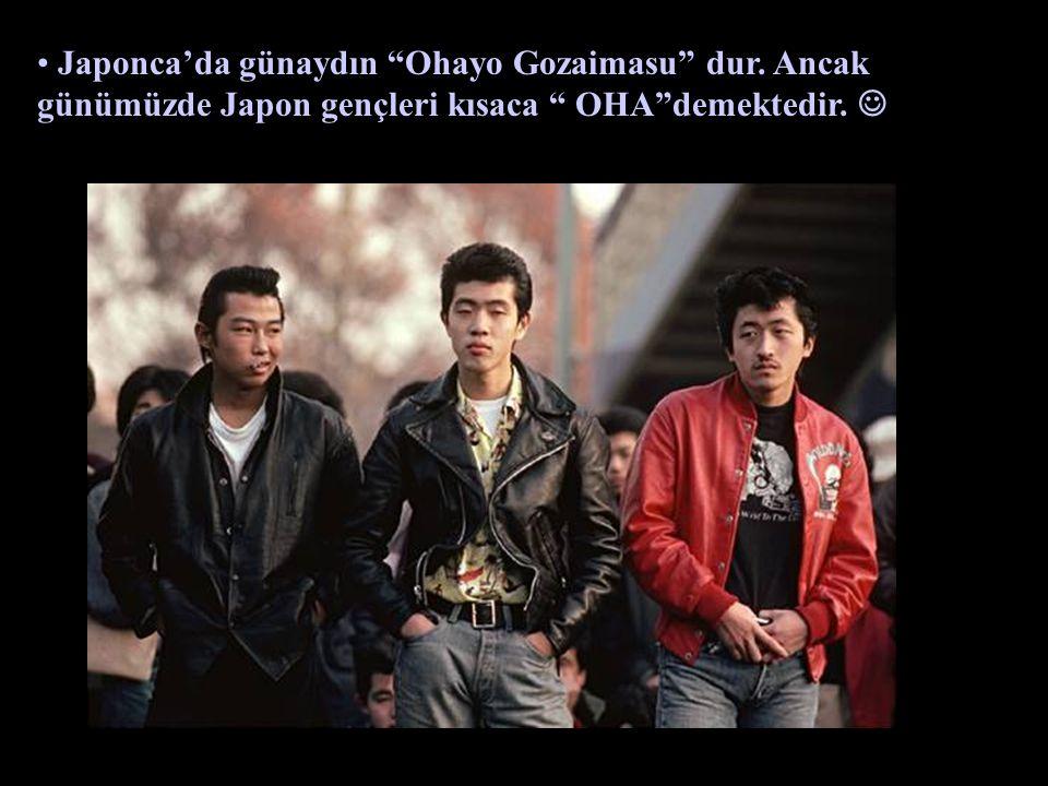 Japonca'da günaydın Ohayo Gozaimasu dur