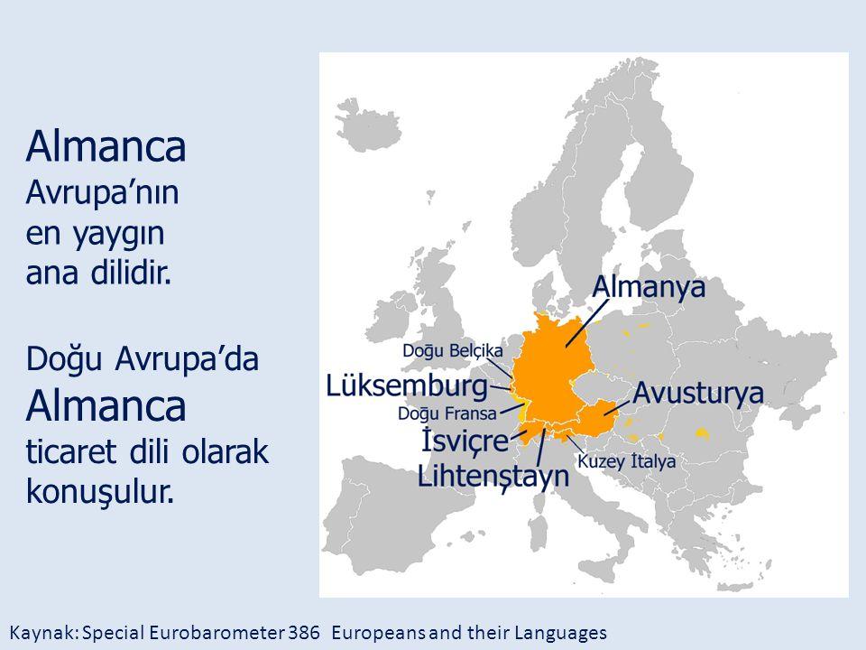 Almanca Avrupa'nın Almanca en yaygın ana dilidir. Doğu Avrupa'da
