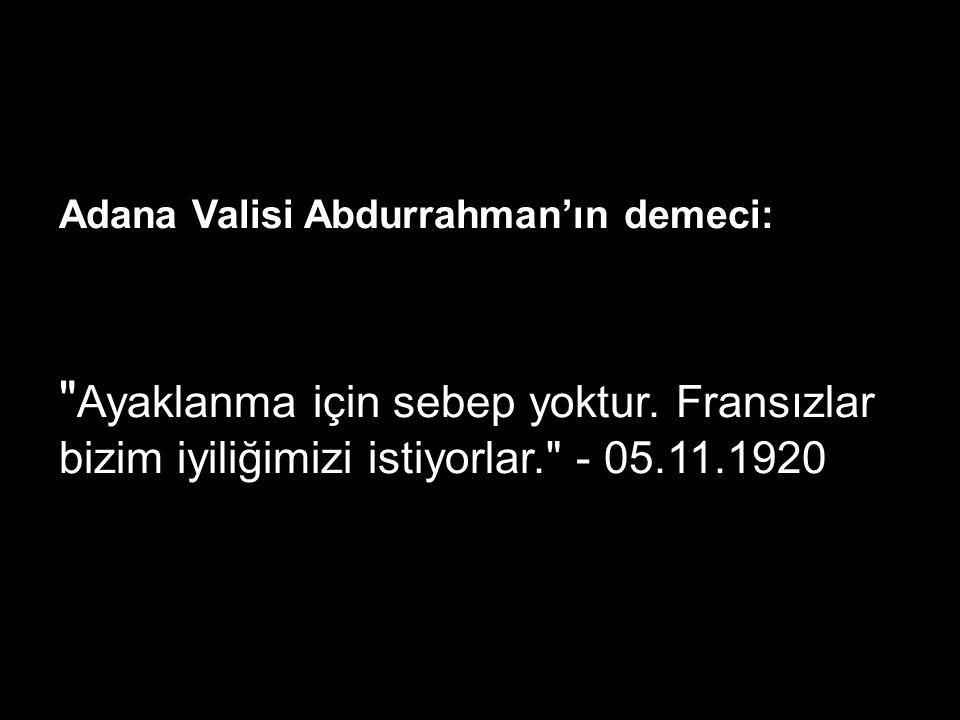 Adana Valisi Abdurrahman'ın demeci: Ayaklanma için sebep yoktur