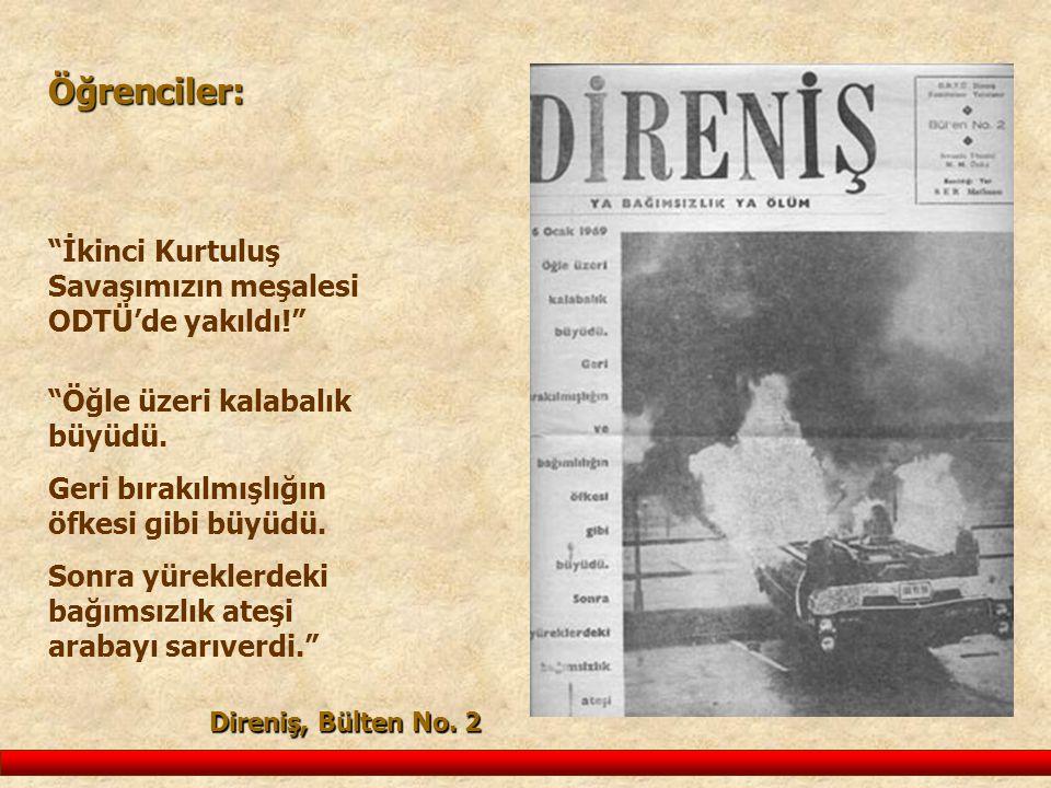 Öğrenciler: İkinci Kurtuluş Savaşımızın meşalesi ODTÜ'de yakıldı!