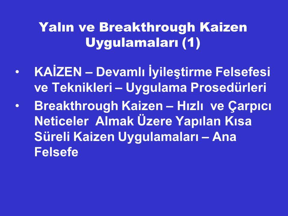 Yalın ve Breakthrough Kaizen Uygulamaları (1)