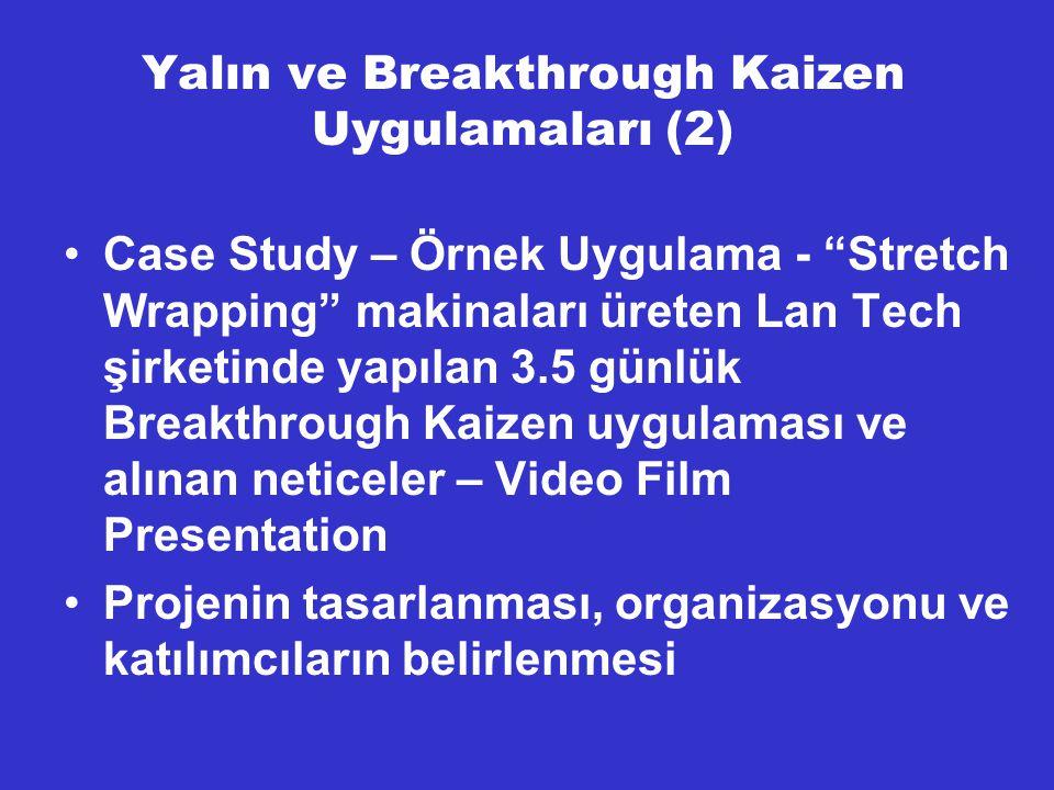 Yalın ve Breakthrough Kaizen Uygulamaları (2)