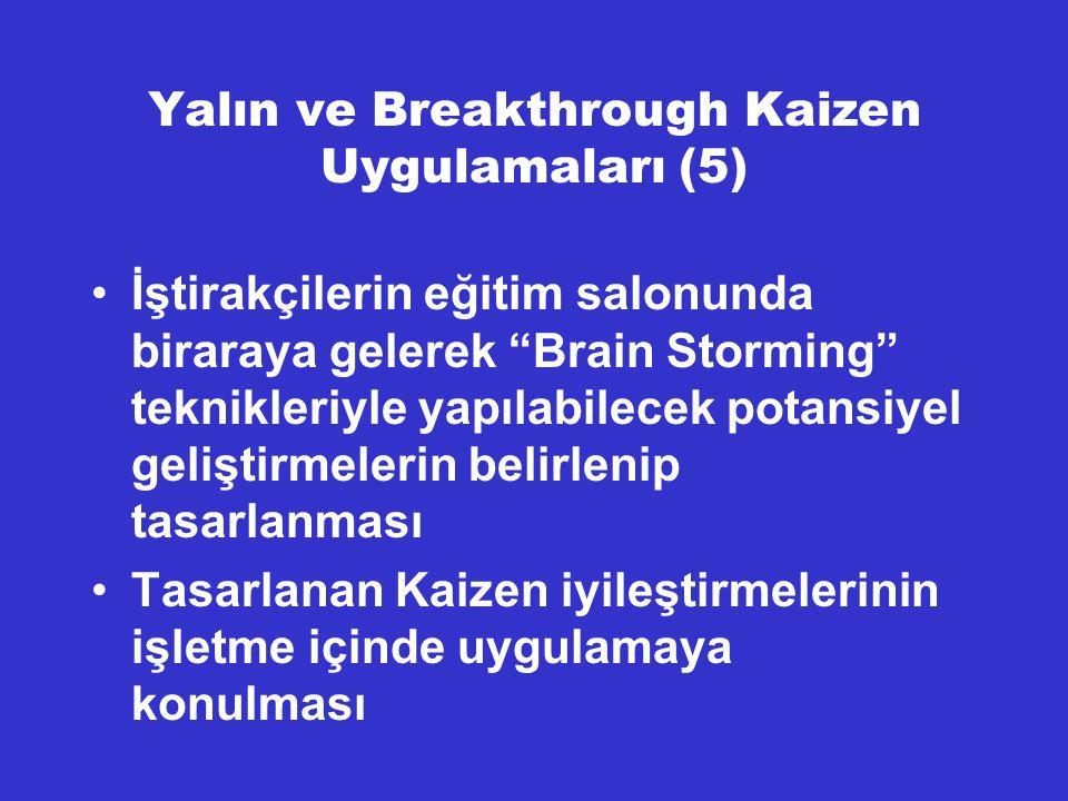 Yalın ve Breakthrough Kaizen Uygulamaları (5)