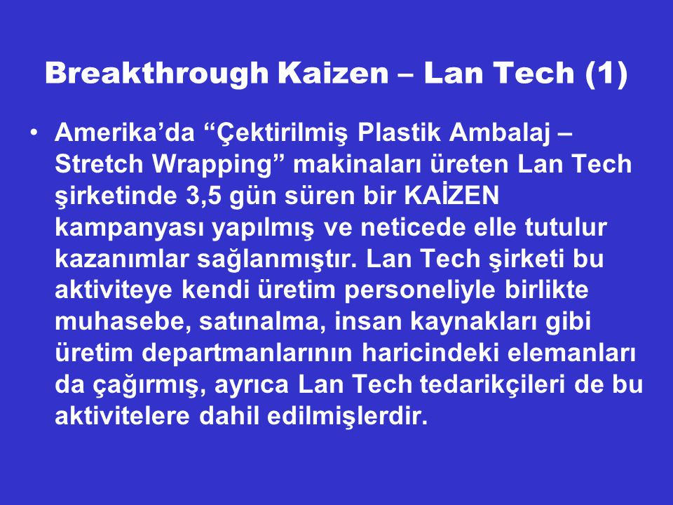 Breakthrough Kaizen – Lan Tech (1)