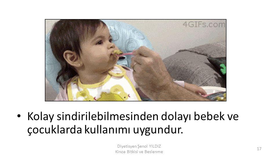 Diyetisyen Şenol YILDIZ Kinoa Bitkisi ve Beslenme