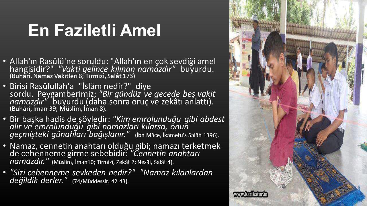 En Faziletli Amel