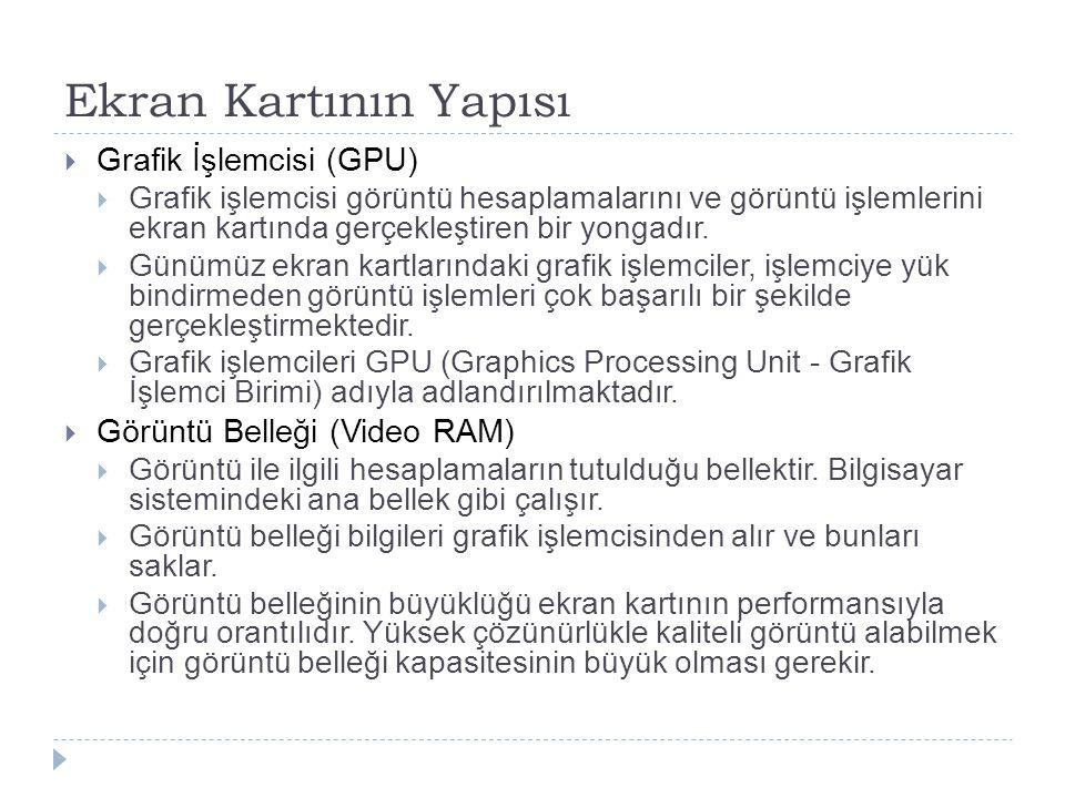 Ekran Kartının Yapısı Grafik İşlemcisi (GPU)