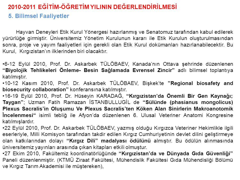 2010-2011 EĞİTİM-ÖĞRETİM YILININ DEĞERLENDİRİLMESİ
