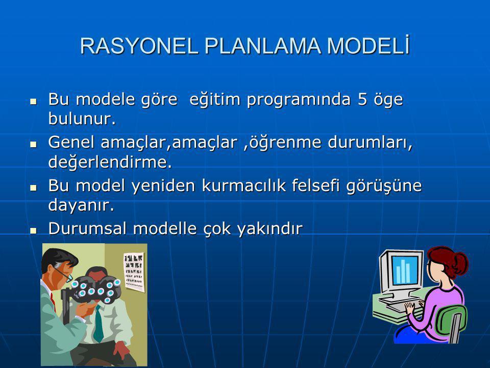 RASYONEL PLANLAMA MODELİ