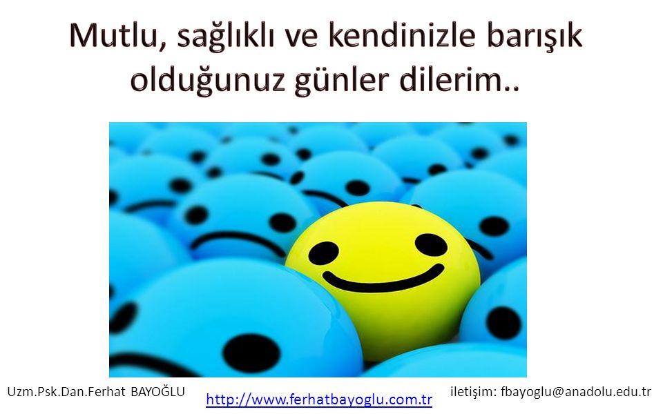 Mutlu, sağlıklı ve kendinizle barışık olduğunuz günler dilerim..