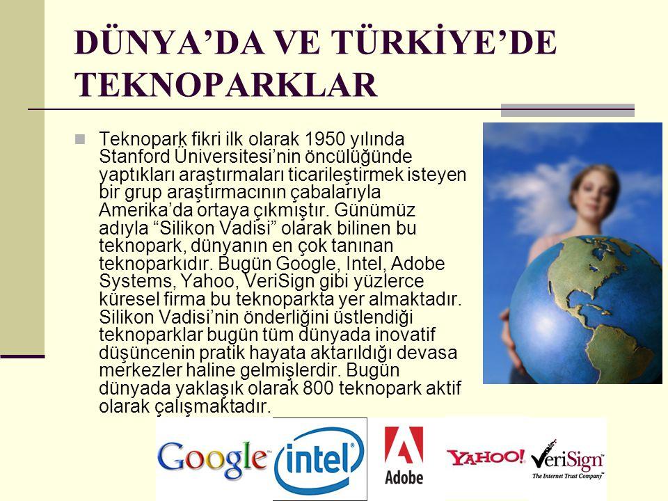 DÜNYA'DA VE TÜRKİYE'DE TEKNOPARKLAR