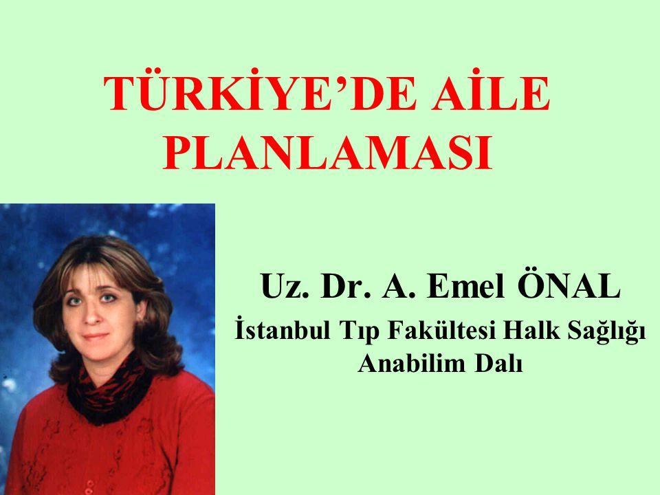 TÜRKİYE'DE AİLE PLANLAMASI