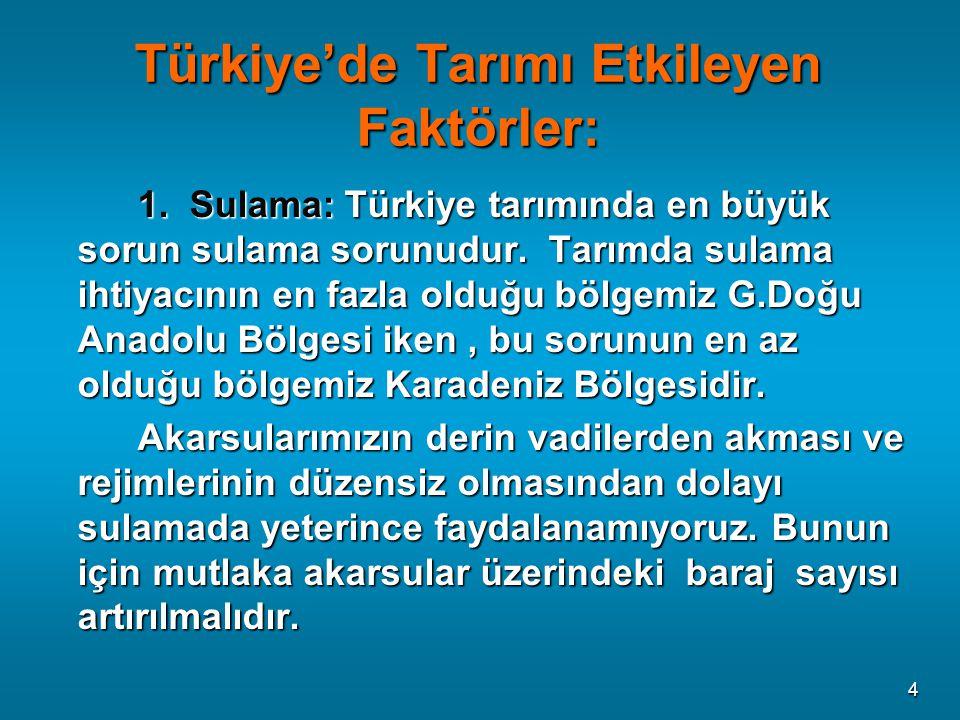 Türkiye'de Tarımı Etkileyen Faktörler: