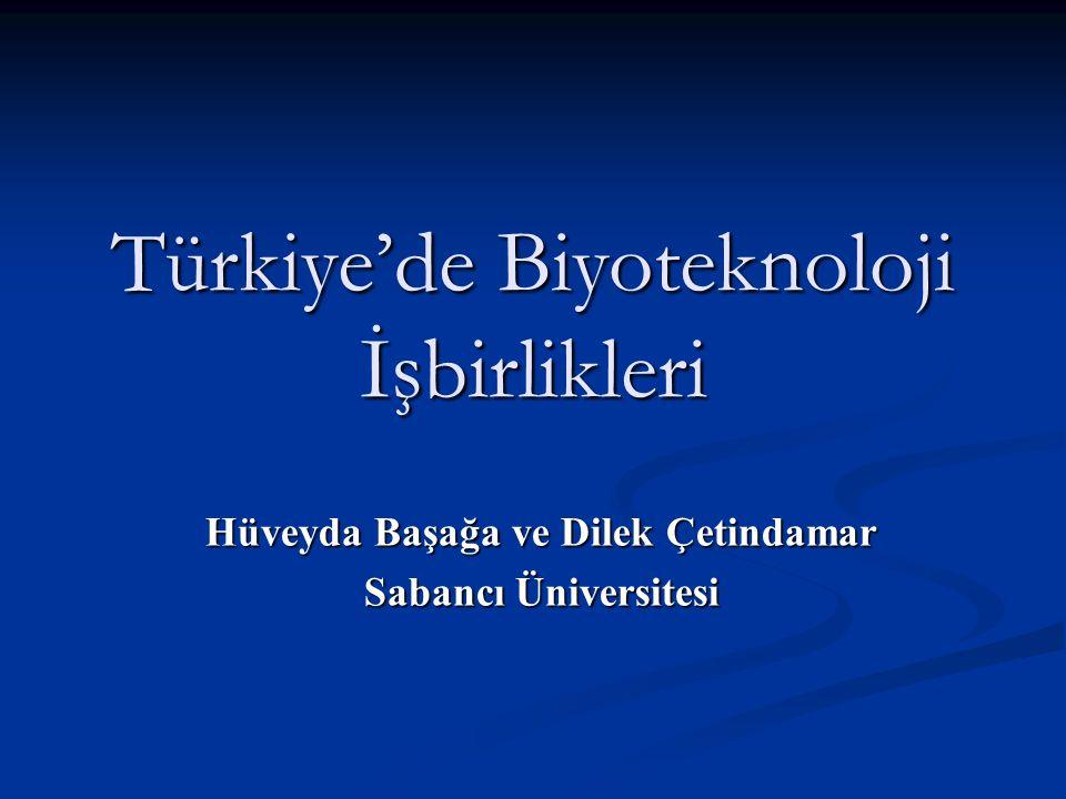 Türkiye'de Biyoteknoloji İşbirlikleri