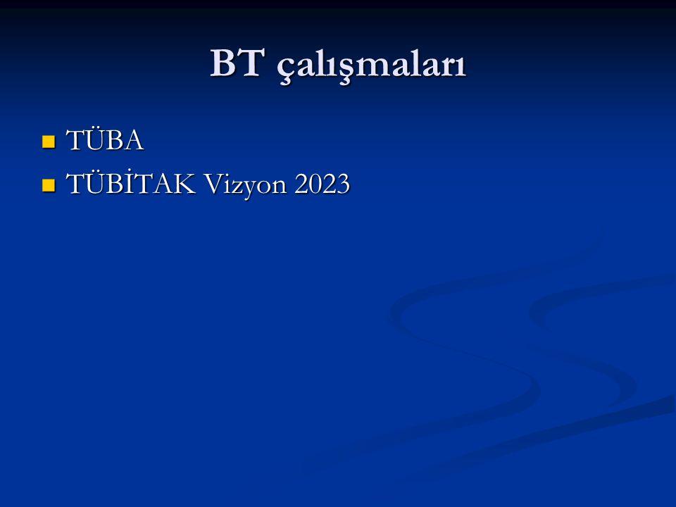 BT çalışmaları TÜBA TÜBİTAK Vizyon 2023
