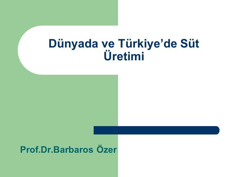 Dünyada ve Türkiye'de Süt Üretimi