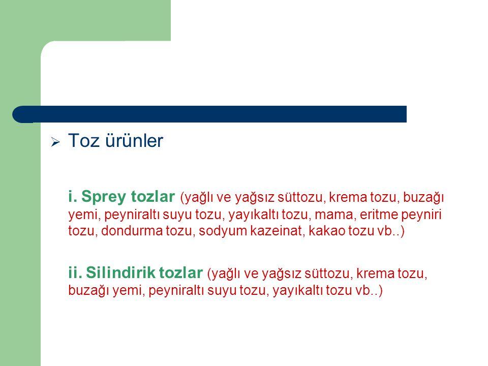 Toz ürünler