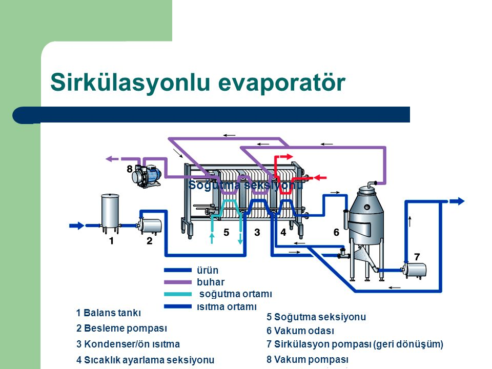 Sirkülasyonlu evaporatör