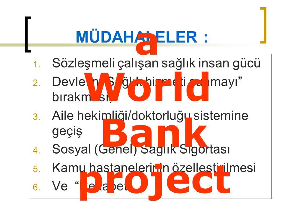a World Bank project MÜDAHALELER :
