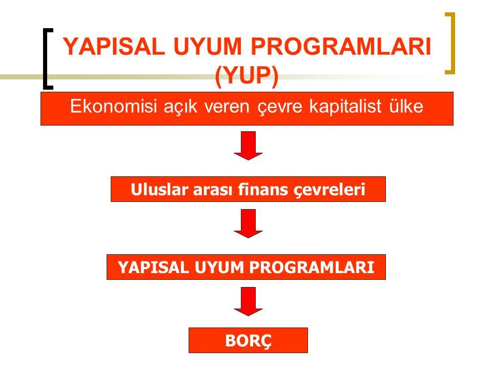 YAPISAL UYUM PROGRAMLARI (YUP)