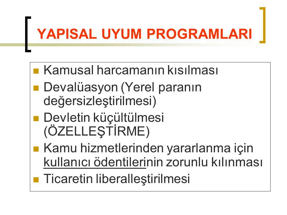 YAPISAL UYUM PROGRAMLARI