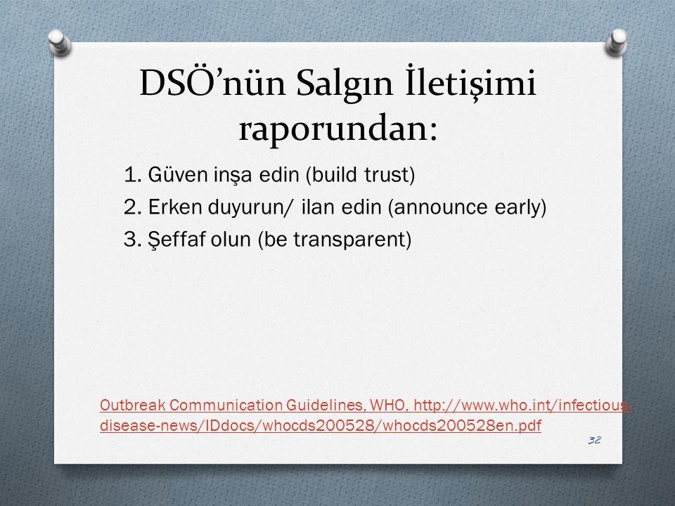 DSÖ'nün Salgın İletişimi raporundan: