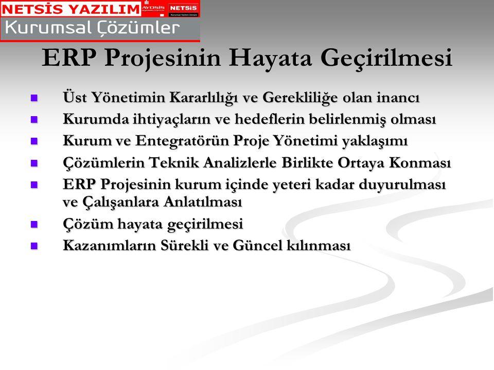 ERP Projesinin Hayata Geçirilmesi