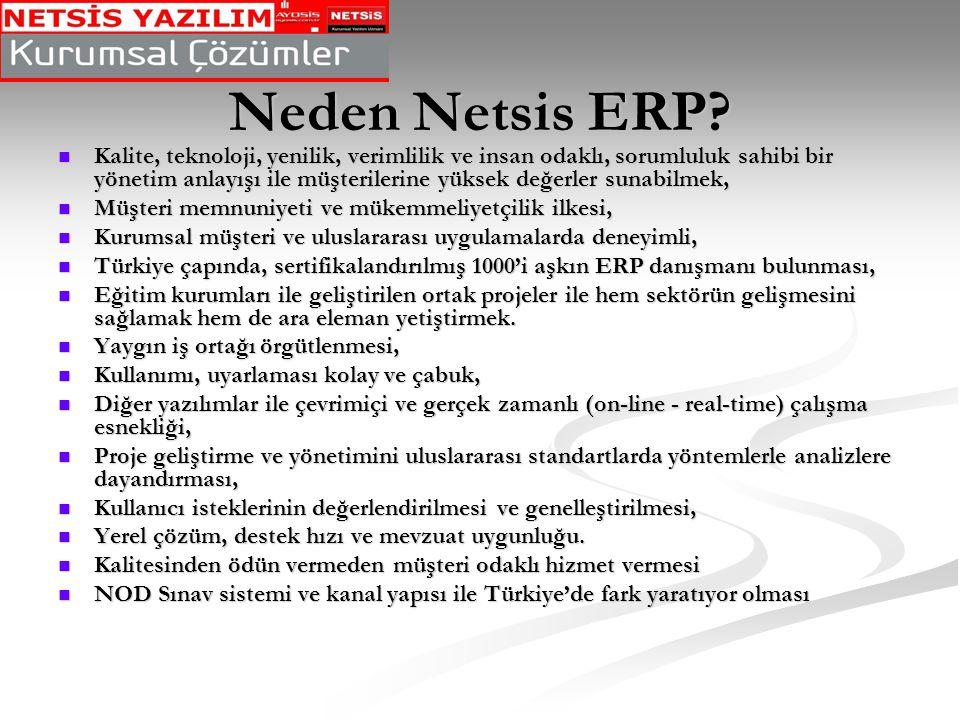 Neden Netsis ERP
